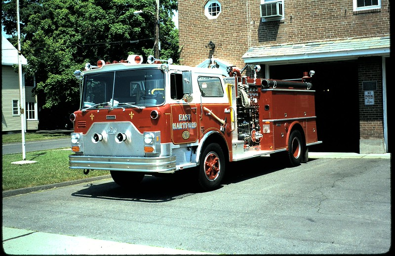 Former East Hartford, Ct Engine 3. I was the driver of Engine 3 on group 4 and the day this went into service the first run we had was a 3rd alarm. We were supposed to be first due but we were changing over to this new rig and were not able to respond until the second alarm.