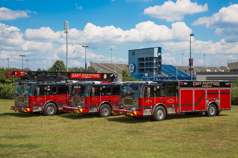 East Hartford, Ct Ladder 2, Engine 1 and Rescue 1