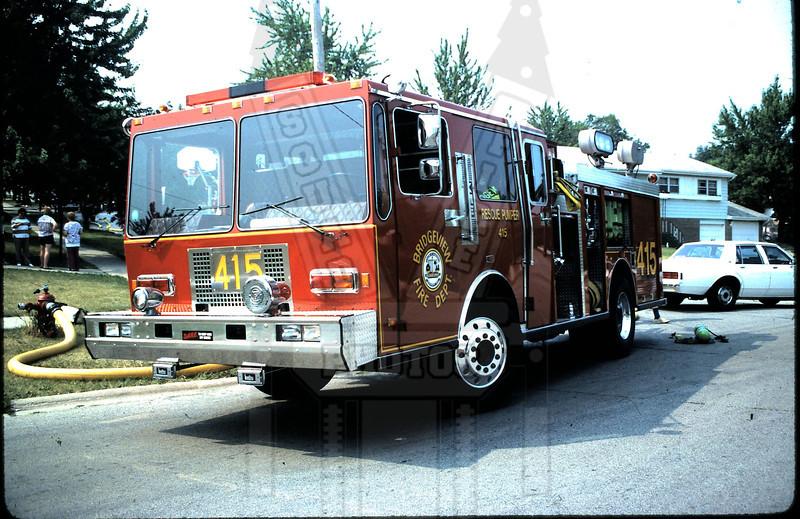Former Bridgeview, IL FD Engine 415