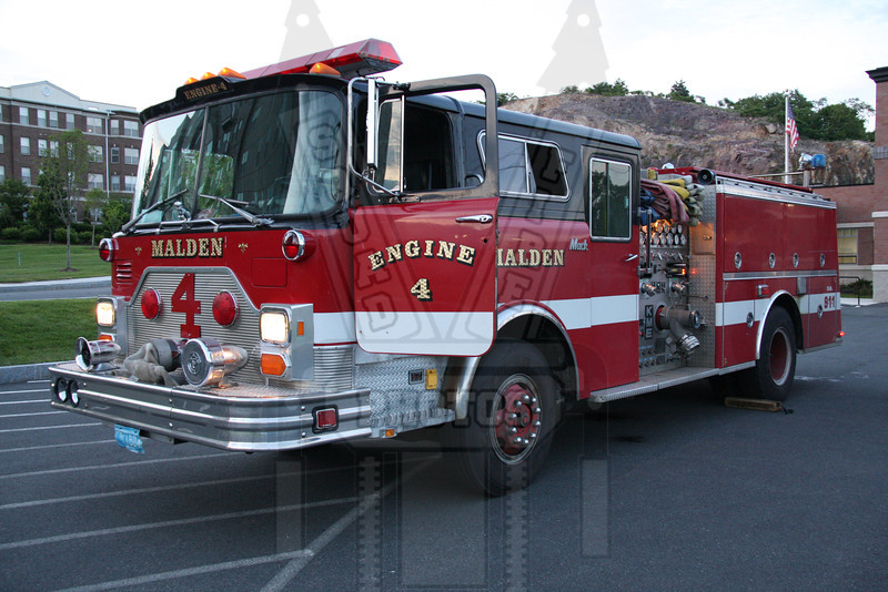 Malden, Ma Engine 4. This company is located in a shared firehouse with Revere Engine 3. It is the same building but totally seperate quarters.