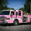Newington, Ct Engine 3. Wrapped in pink for breast cancer awareness.