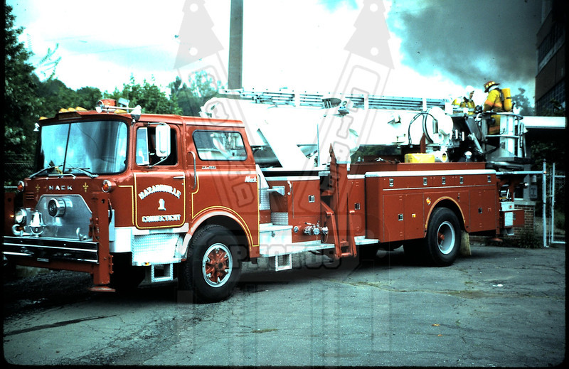 Former Hazardville FD ( Enfield, Ct) Tower 1. This rig is now West Stafford (Stafford, Ct)Tower 144