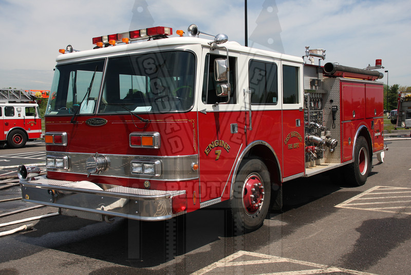 East Hartford, CT Engine 7 (spare). This rig originally saw service in Farmington, Ct. This rig was purchased to be used as a spare.