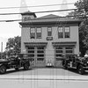Former Manchester, Ct engine in front of their former firehouse that is now a museum