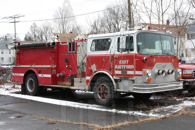 East Hartford, Ct. This engine was assigned to Engine 3 when delivered. It finished service as Engine 8 (spare) I was the assigned driver of this rig on group 4. I was working the day it went into service and our first run was a 3 alarm fire.