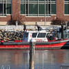 Massport fireboat #2 located at Logan airport in Boston, Ma