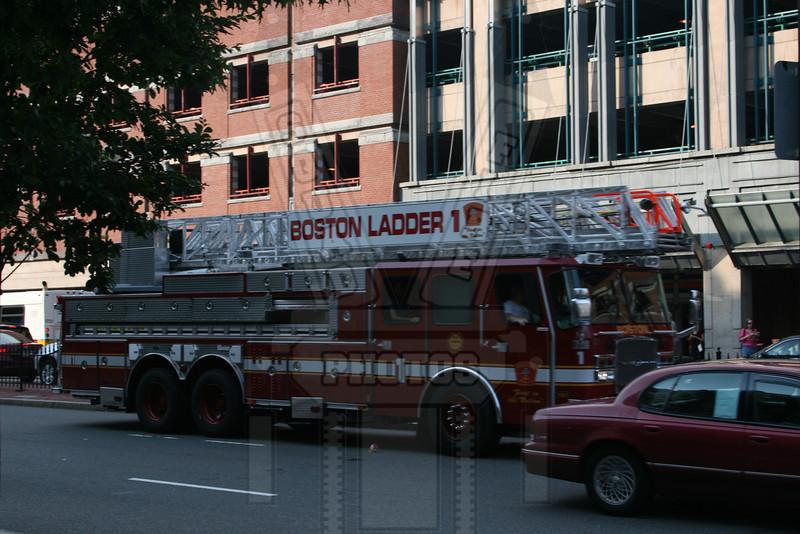 Boston, Ma Ladder 1 returning from a run