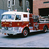 Engine 7. Same rig as previous picture but with new paint.