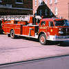 Ladder 4 in front of old quarters