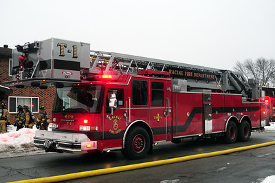 Truck 1 - 2014 Pierce/Dash CF - 100' Aerial Platform - Replaces a 1990 Emergency One - 97' Platform - Photograph Added 5/19/2015.