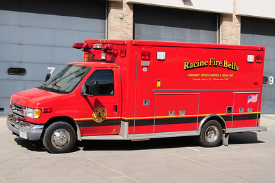 Racine Fire Bells Emergency Rehab Support Unit 66 - 2002 Ford-Medtec (Former Racine Fire Department Paramedic Rescue Unit) - Photo added September 20th, 2012.