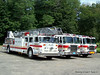 Group shot: 1985 Seagrave, 2002 E-One and the 2009 E-One.