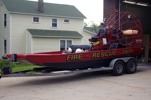Rescue Boat 2870 - 1995 Combee Airboat - 600 GPM Portable Pump