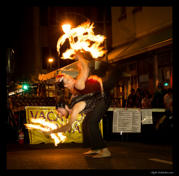 Hawaii Fire Artist - Chinese New Years 2015