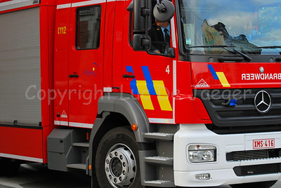 Fire Engine Mercedes Axor of the fire brigade of St Niklaas in Belgium.