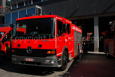 Mercedes Atego Pumper (rescue pump, halfzware autopomp) of the professional fire department of Ghent (Gent), Belgium. Shot with the Nikkor 18-200mm lens. No post processing.