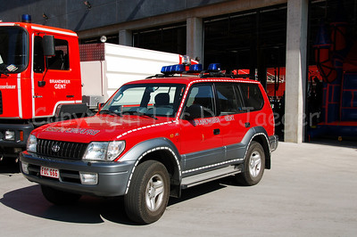 Toyota Landcruiser of the professional fire department of Ghent (Gent), Belgium.