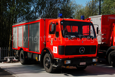 Mercedes 79 hose truck from the professional fire department of Ghent (Gent), Belgium. Shot with the Nikkor 18-200mm lens. No post processing.