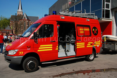 Mercedes Sprinter 4x4 (fire engine 77) of the diving unit of the professional fire department of Ghent (Gent), Belgium.