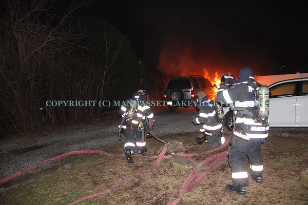 M-LFD Extinguishes Great Neck Car Fire