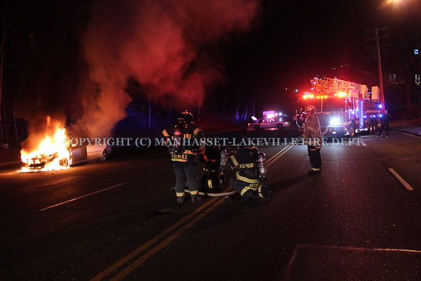 M-LFD Extinguishes Car Fire on Community Drive