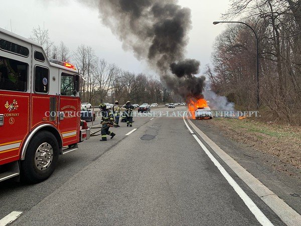 M-LFD Extinguishes Car Fire, Then Extricates 1 From MVA