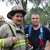 Chief Dave Traiforos Of  Franklin Park With Chief/ Fire Fighter Sammy Rossetti At A Fire In Elmwood Park.