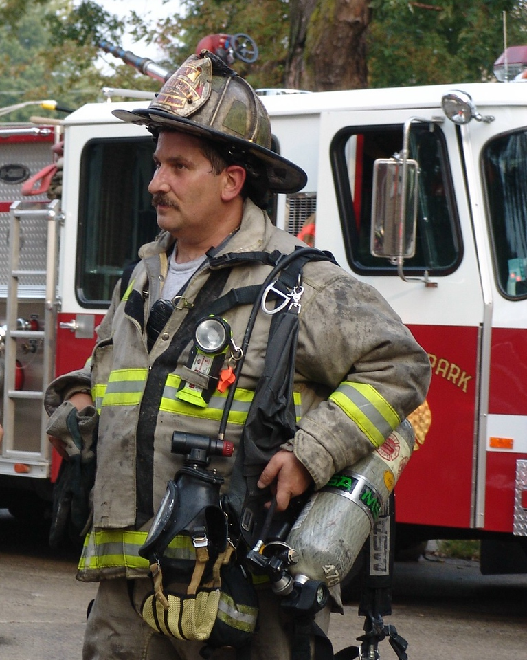 Fire Chief Dave Traiforos At The Extra Alarm In Elmwood Park.