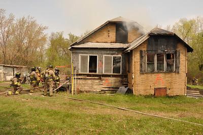 Caledonia, WI House Burn 5-12-11