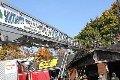 S Franklin & Peninsula Blvd Building Fire 10/29/13