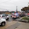 Nassau Police Closing Lanes.