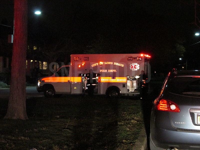 They smoke detector was thrown into the yard as a Halloween prank.