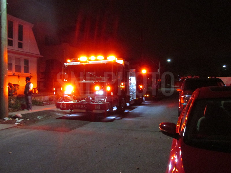 Long Beach Fire Dept were called to this house a general alarm, alarm sounding.