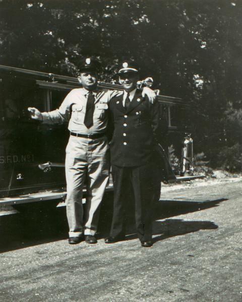 Left - Ken Reynolds  Right - Unidentified Lakewood Fireman