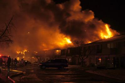 SBFD Fire Scene - Park Jefferson Apartments Fire  1-6-12