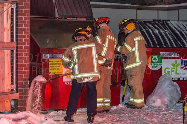 1-5-2018 Rochester Hills dumpster fire North Hill