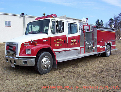 KASKA VOLUNTEER FIRE CO ENGINE 2-10 1994 FREIGHTLINER/CENTRAL STATES PUMPER