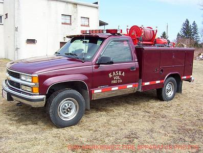 KASKA VOLUNTEER FIRE CO BRUSH 2-40 1995 CHEVY/READING BRUSH UNIT