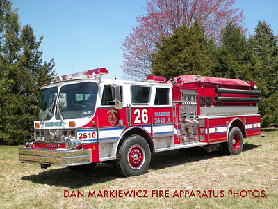 RYAN TWP. FIRE & RESCUE CO. FORMER ENGINE 26-10 1988 HAHN PUMPER