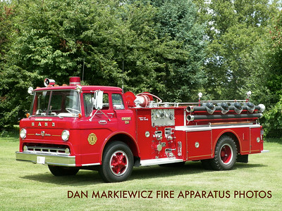 AUBURN FIRE CO. 1963 FORD/HAHN PUMPER PRIVATELY OWNED BY NED BECK
