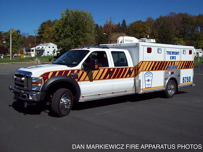 TREMONT EMS FORMER RESCUE 67-50 2008 FORD/MCCOY MILLER LIGHT RESCUE
