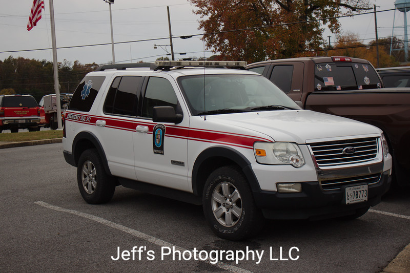 Charles County Department of Emergency Services EMS Vehicle