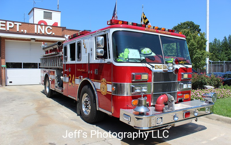Accokeek, MD Volunteer Fire Department Pumper #241
