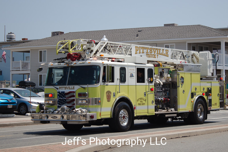 Pittsville, MD Volunteer Fire Department Ladder #7