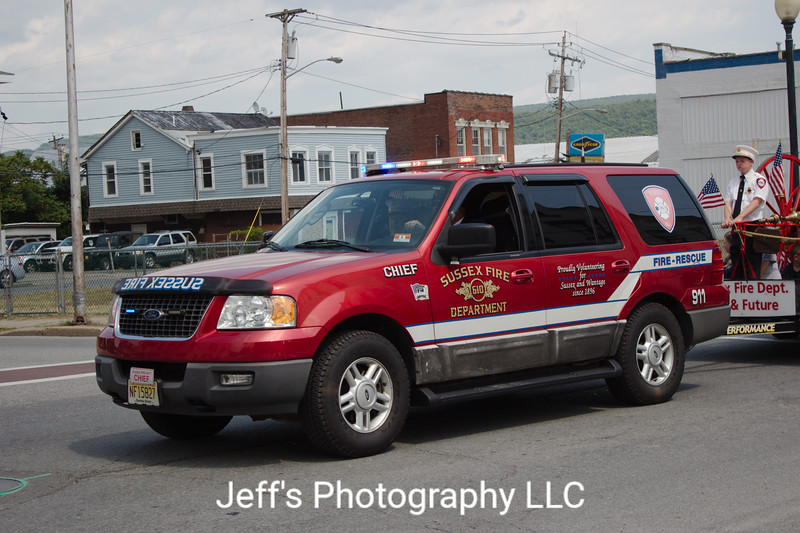 Sussex, NJ Fire Department Chief's Car - RETIRED