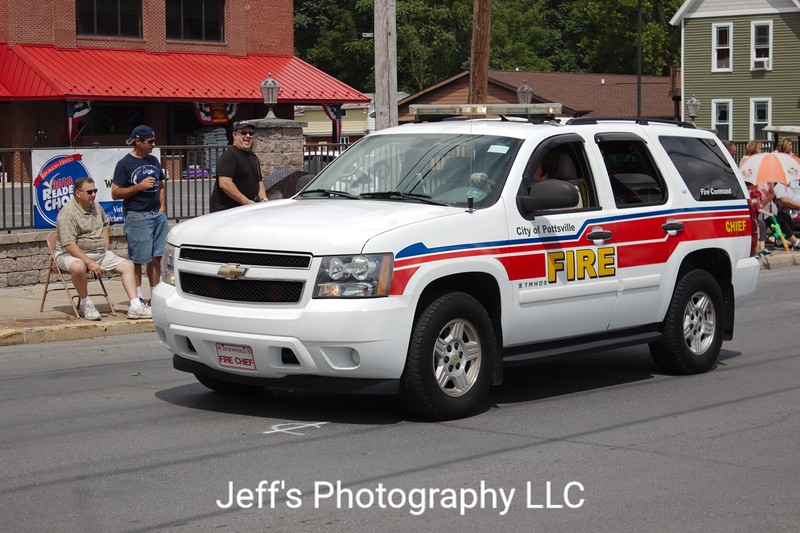 Pottsville, PA Fire Department Chief's Car