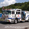 Tower City, PA Volunteer Fire Company Pumper #E-66 takes part in the 64th Annual Schuylkill County Firefighter's Convention Parade in Pine Grove, Pennsylvania on 25 August 2018.