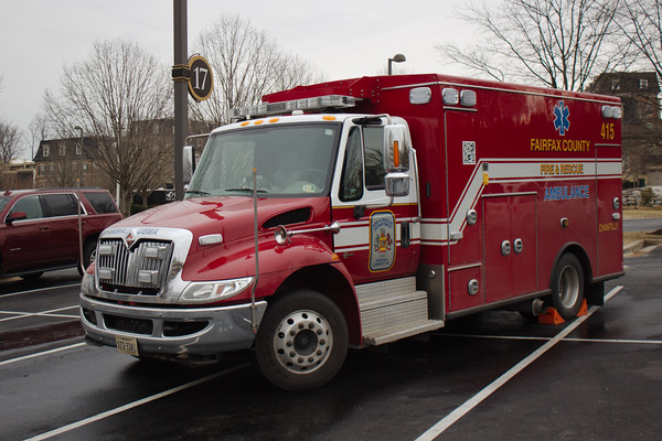 Fairfax County Fire and Rescue Department, Chantilly, VA, Ambulance #415