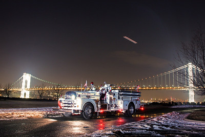 New Milford & River Edge Fire under the GWB 2-1-14