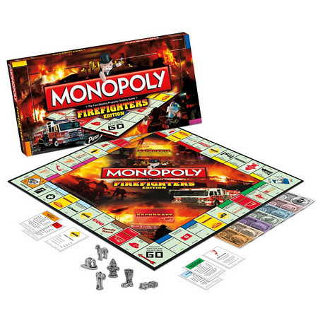 Fire Fighters Monopoly Game the Picture On The Cover Is Mine Next To The Y From Reds Auto Body Fire In Glenview.